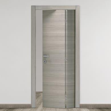 Porta pieghevole Bristol rovere grigio L 80 x H 210 cm destra