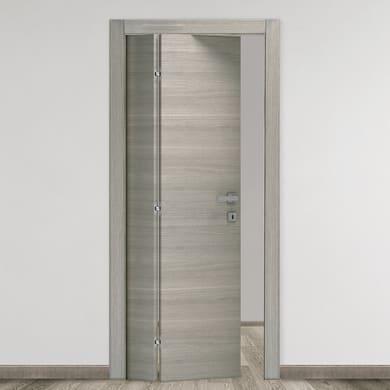 Porta pieghevole Bristol rovere grigio L 80 x H 210 cm sinistra