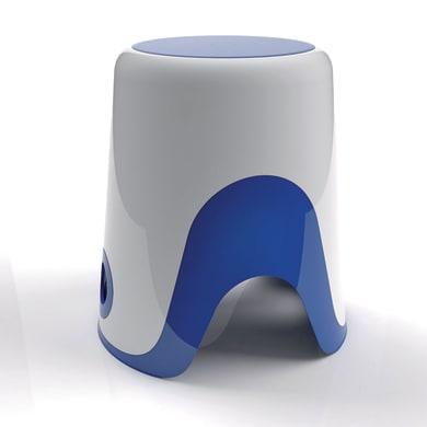 Sgabello Wendy in resina termoplastica bianco/blu
