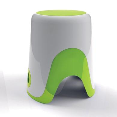 Sgabello Wendy in resina termoplastica bianco/verde