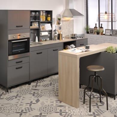 Cucina in kit moove grigio L 309 cm