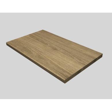 Piano di lavoro in legno rovere L 180 x P 60 cm, spessore 0.28 cm