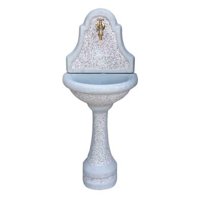 Fontana a parete Dany in calcestruzzo H 106 cm, 44 x 30 cm