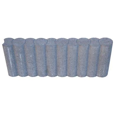 Cordolo in calcestruzzo grigio Bordura bifacciale  L 50 x H 20 cm Sp 6.5 cm