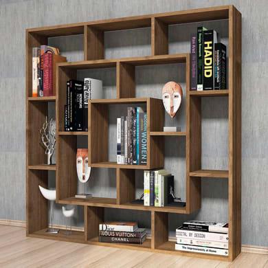 Libreria Frame 7 ripiani L 125 x P 20 x H 125 cm legno