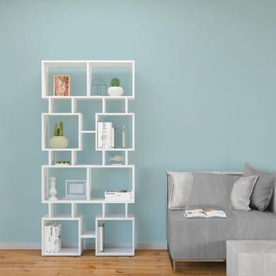 Libreria Isle 7 ripiani L 79 x P 24 x H 166 cm bianco