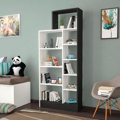 Libreria Zerre 9 ripiani L 75.4 x P 22 x H 170.8 cm