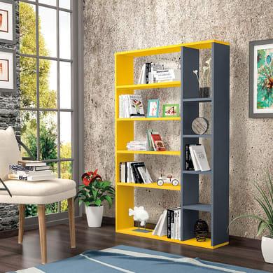 Libreria Nova 9 ripiani L 98.6 x P 22 x H 150 cm