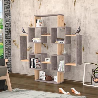 Libreria Gant 7 ripiani L 123.6 x P 22 x H 123.6 cm