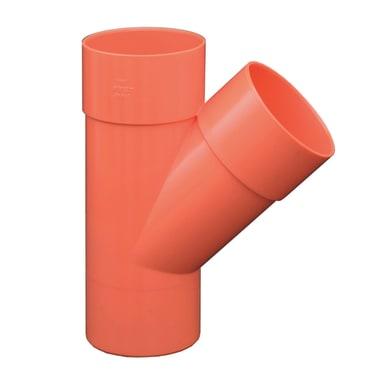 Derivazione arancione in PVC 45° Ø100 mm