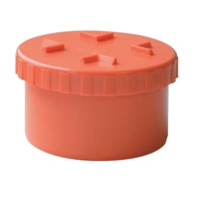 Tappo di ispezione arancione in PVC Ø100 mm
