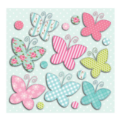 Sticker Butterfly 31x31 cm
