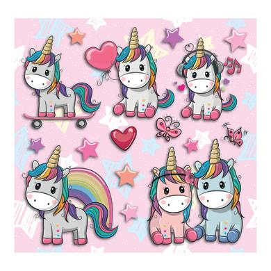 Sticker Kids lovely unicorn 31x31 cm