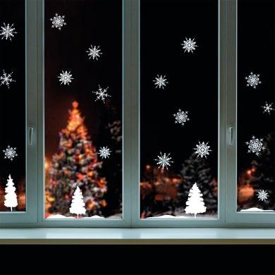Sticker Christmas Fiocchi di neve 22x67 cm