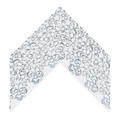 Asta per cornice bianco/argento 8 cm