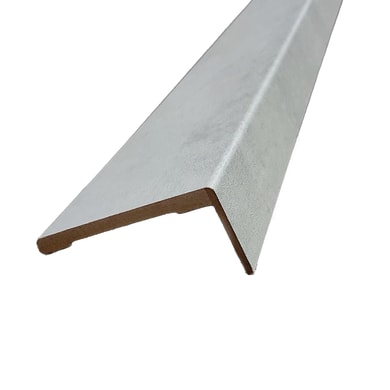 Kit coprifilo Cemento 2,5 pz in mdf rivestito grigio L 2250 x P 9 x H 90 mm