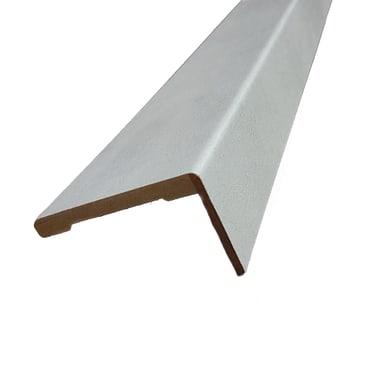 Kit coprifilo Cemento 2,5 pz in mdf rivestito grigio L 2250 x P 9 x H 70 mm