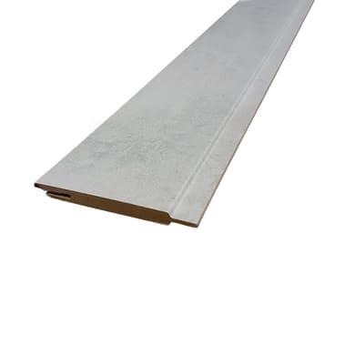 Kit coprifilo Cemento 2,5 pz in mdf rivestito grigio L 2250 x P 9 x H 115 mm