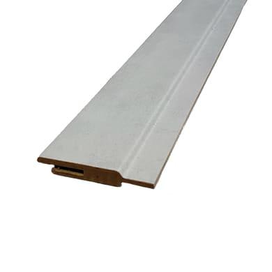 Kit coprifilo Cemento 2,5 pz in mdf rivestito grigio L 2250 x P 9 x H 65 mm