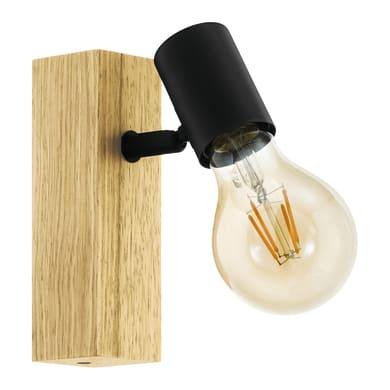 Faretto Townshend nero, in legno, E27 10W IP20 EGLO