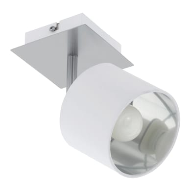 Faretto VALBIANO bianco, in metallo, E14 10W IP20 EGLO