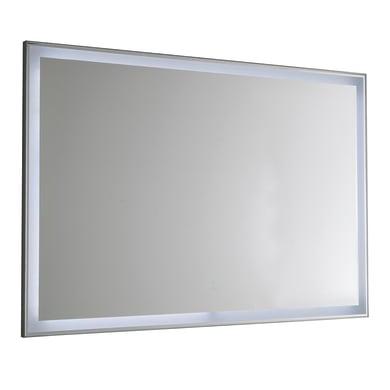 Specchio con illuminazione integrata bagno rettangolare Squadra L 80 x H 60 cm