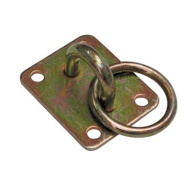 Piastra dritta standers in acciaio zincato L 50 x Sp 3 x H 60 mm