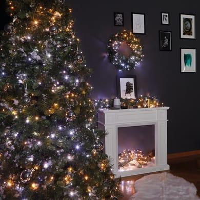 Catena luminosa 250 lampadine LED bianco caldo e bianco freddo e dorato e giallo TWINKLY 2000 cm