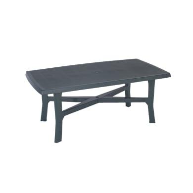 Tavolo da giardino rettangolare Senna con piano in resina L 100 x P 180 cm