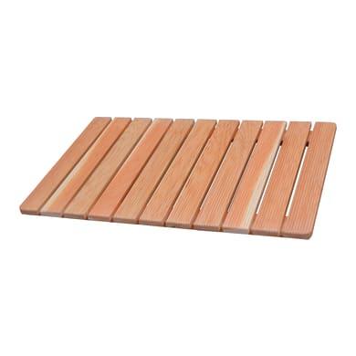 Pedana per doccia Larice in legno larice miele 55 x 85 cm