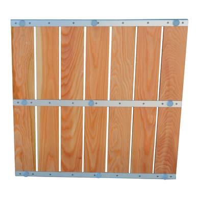 Pedana per doccia Larice in legno larice miele 64 x 64 cm