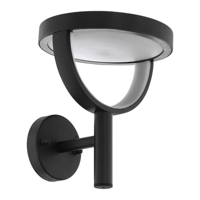 Applique Francari LED integrato in alluminio, nero, 17W 1750LM IP44 EGLO