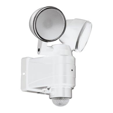 Proiettore LED integrato con sensore di movimento Csabas in policarbonato, bianco, 7.5W 800LM IP44 EGLO