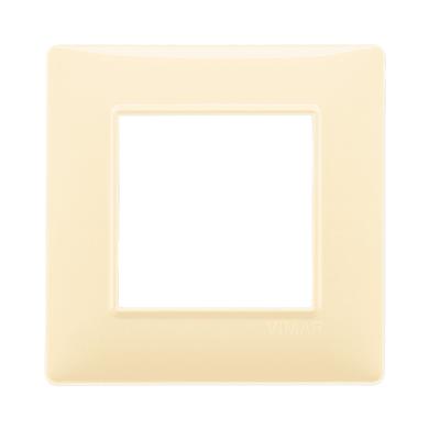 Placca Plana VIMAR 2 moduli crema