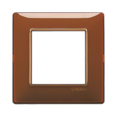 Placca Plana VIMAR 2 moduli tabacco