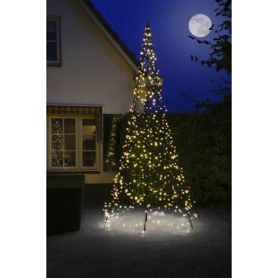 Albero luminoso 640 lampadine bianco caldo H 400 cm