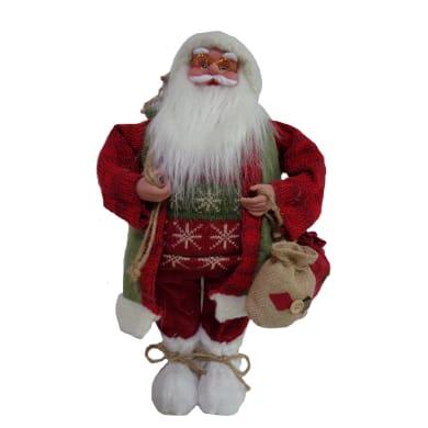 Babbo Natale in tessuto H 46 cm, L 19 cm  x P 12 cm