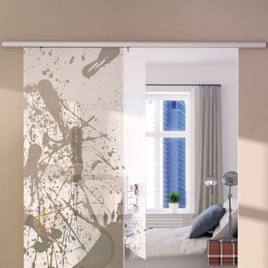 Binario per porta scorrevole Atena grigio L 2 m