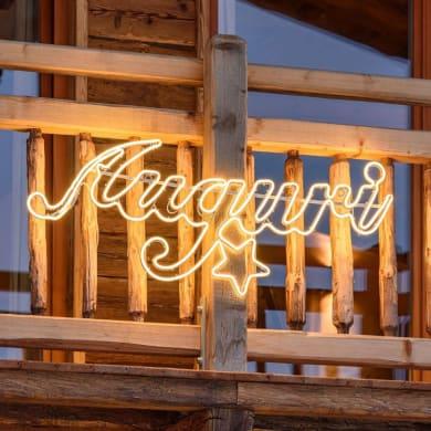 Scritta luminosa 840 lampadine bianco caldo H 45 cm