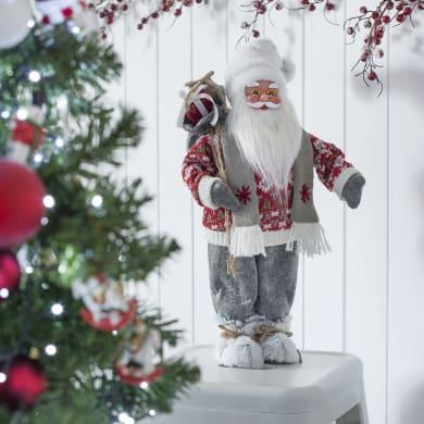 Figura natalizia multicolore L 27 x P 18 x H 63 cm