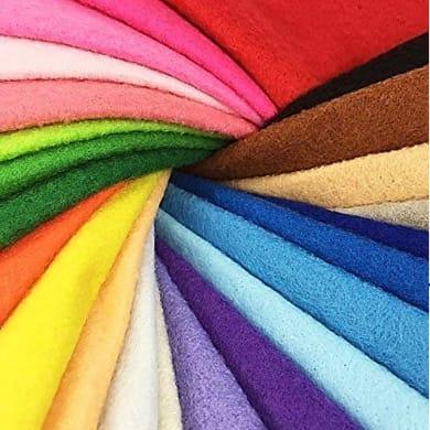 Tessuto al taglio Feltro colori assortiti 180 cm