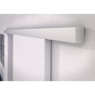 Binario per porta scorrevole Alu/Legno grigio L 2 m
