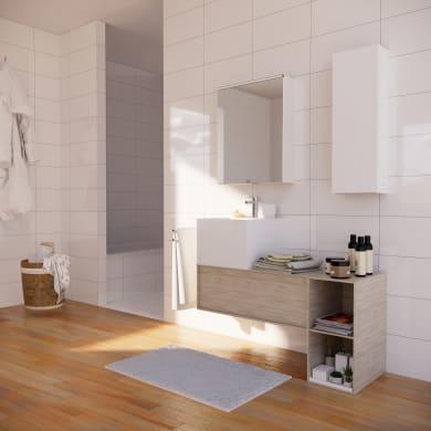 Mobile bagno Neo3 rovere naturale L 90 cm