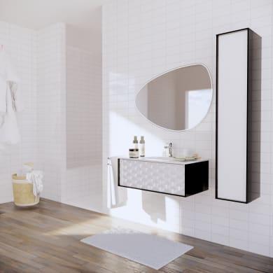 Mobile bagno Neo3 nero L 90 cm
