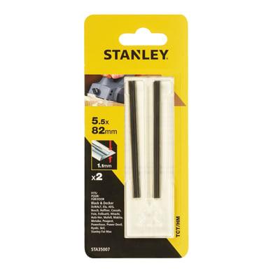 Lama per pialletto elettrico BLACK + DECKER Lame per pialletto misura 82mm. hm 5.5  x 82 mm, 2 pezzi