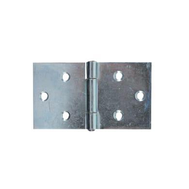 Cerniera piana 110 x 64 mm, acciaio, 2 pezzi