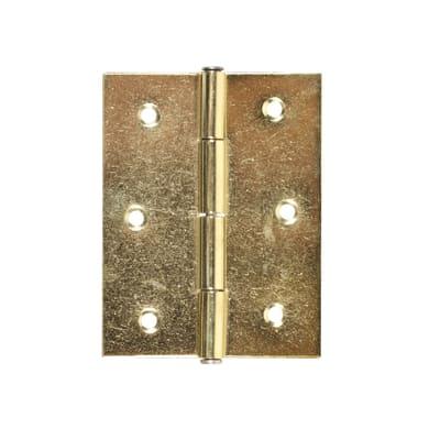 Cerniera piana 55 x 70 mm, ferro, 2 pezzi