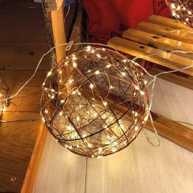 Sfera 120 lampadine bianco caldo H 25 cm