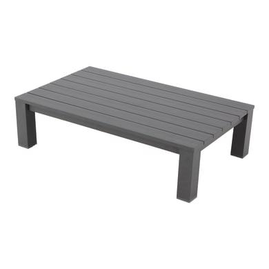 Tavolino da giardino rettangolare Indianapolis in alluminio L 73 x P 118.5 cm