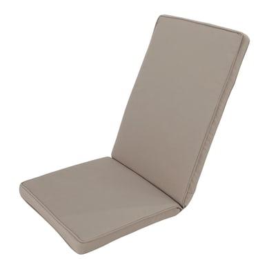 Cuscino per sedia taupe 49x120 cm